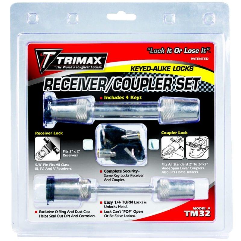 """Trimax TAR300 Premium Anti Rattle 5//8/"""" Locking Pin System 2 3//4/"""" Span"""